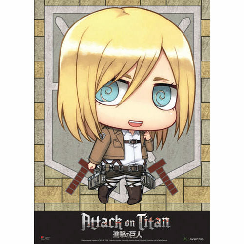 Attack On Titan Chibi Christa Fabric Poster