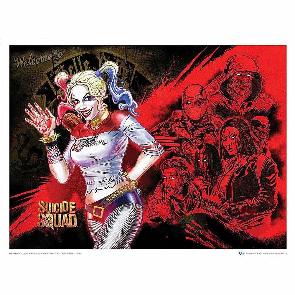 DC Comics Suicide Squad Harley's Heroes 24 x 18 Art Print Poster