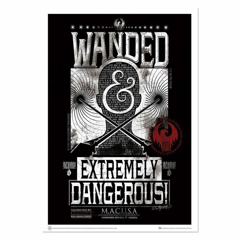 Fantastic Beasts and Where to Find Them Wanded & Dangerous Art Print Poster