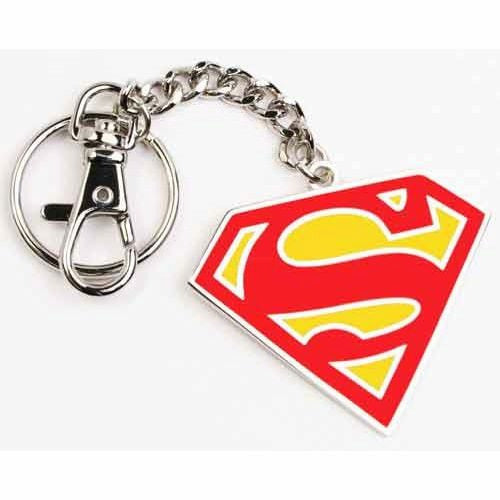 Superman Symbol Red Keychain