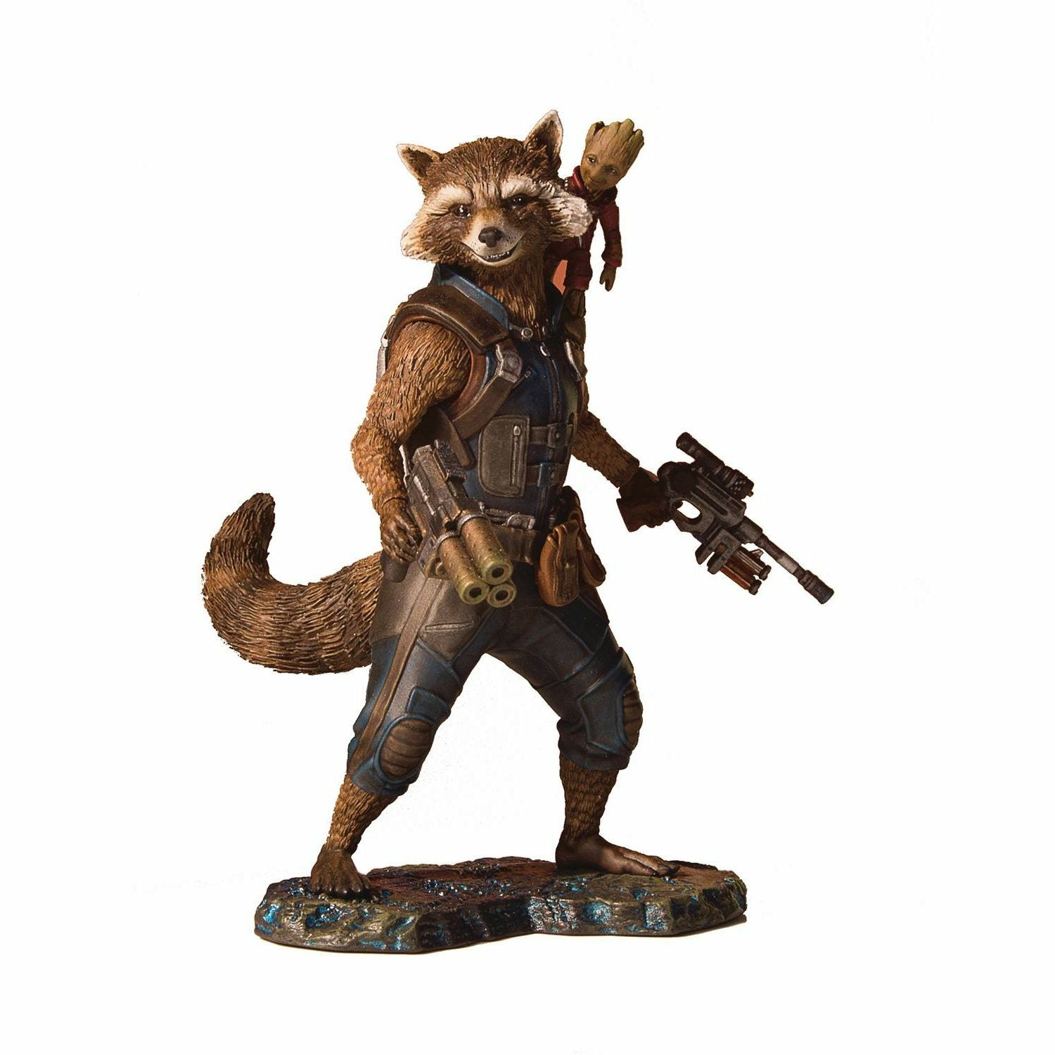 Marvel Collectors Gallery Guardians of the Galaxy 2 Rocket & Groot Statue