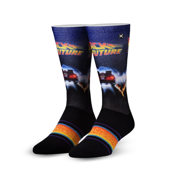 Back To The Future Back In Time Crew Socks