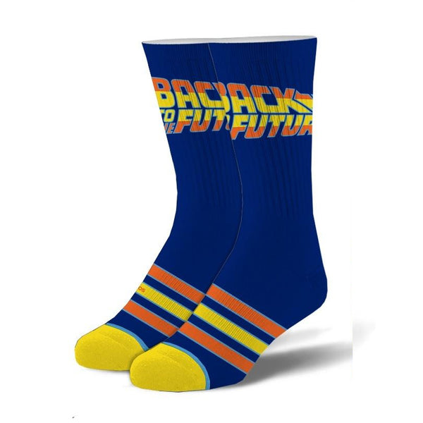 Back To The Future Stripes Mens Crew Socks