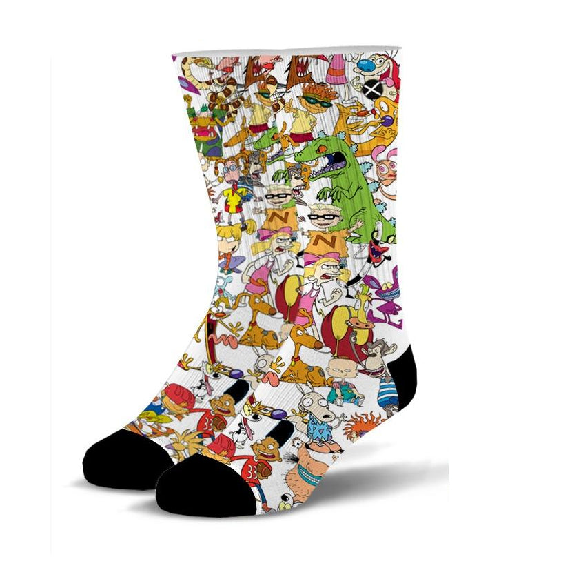90's Squad Sublimation Mens Crew Socks