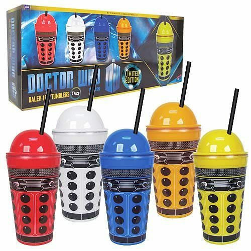 Doctor Who Dalek 16 oz Tumblers - Pack of 5