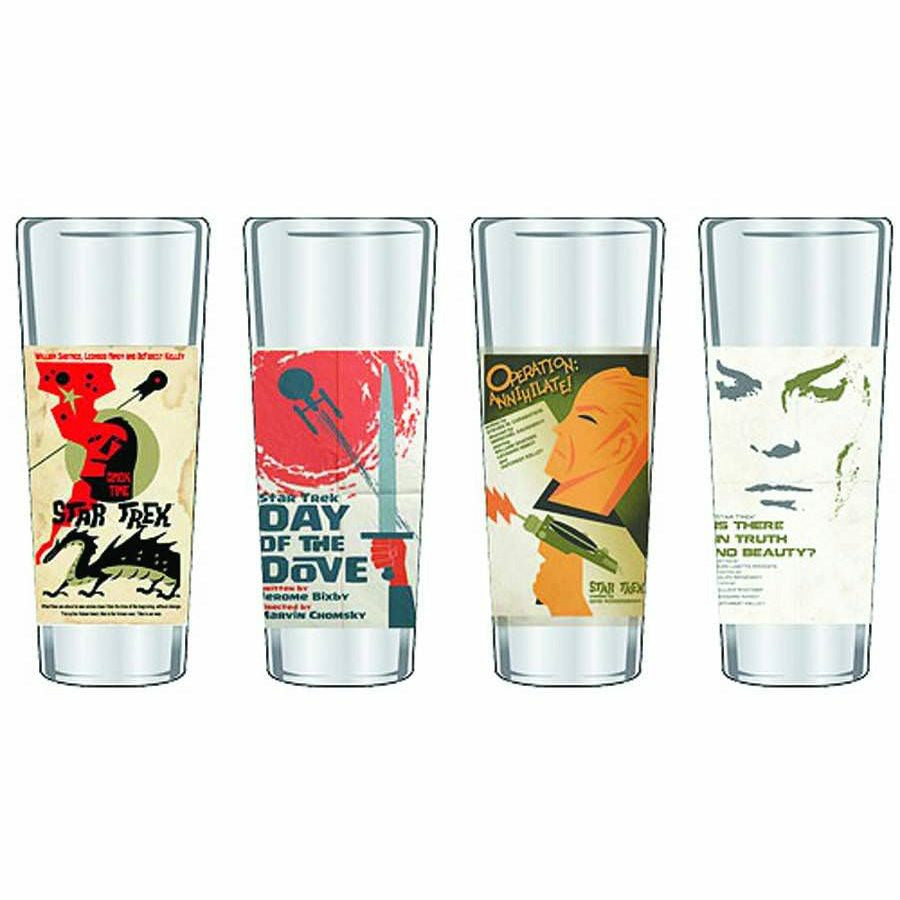 Star Trek The Original Series Fine Art Shot Glasses Series 7 - Set Of 4