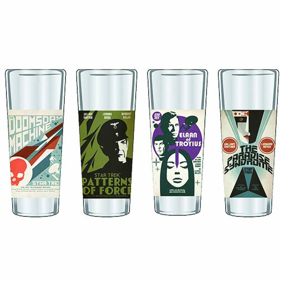 Star Trek The Original Series Fine Art Shot Glasses Series 9 - Set Of 4