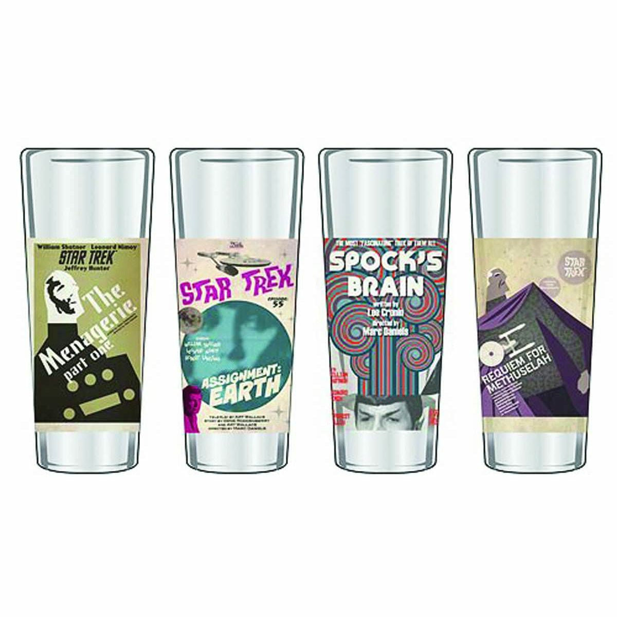 Star Trek The Original Series Fine Art Shot Glasses Series 10 - Set Of 4