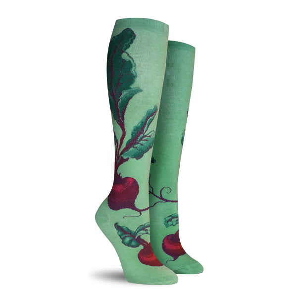 Red Beets Knee High Socks