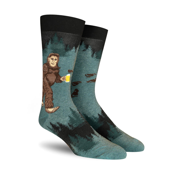 Sasquatch Loves Beer Crew Socks