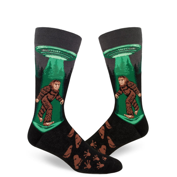Sasquatch Believes In Ufo Crew Socks