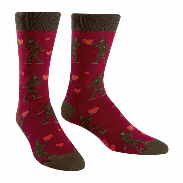 Sock It To Me Sasquatch Valentine Crew Socks