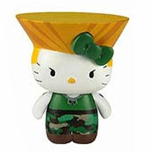 Sanrio X Street Fighter Guile Hello Kitty Ver. Cellphone Dustplug Figure