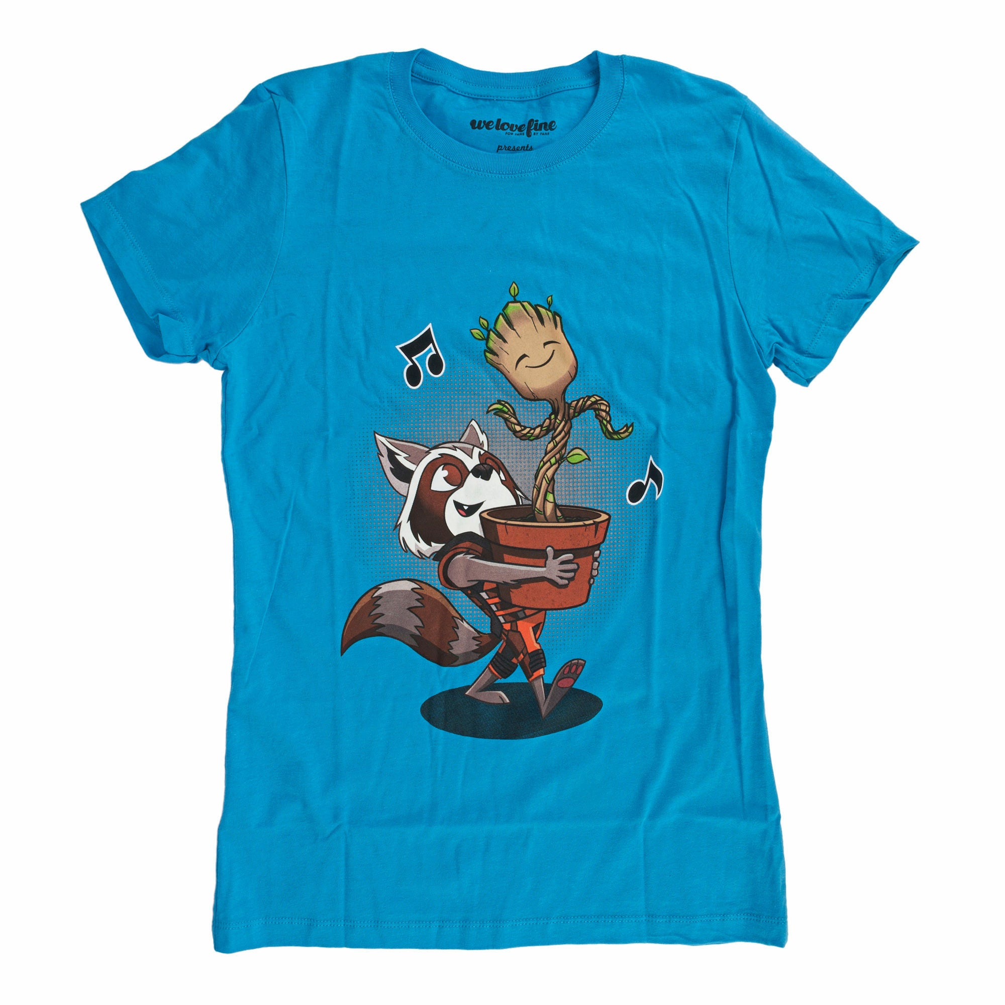 Marvel Guardians Of The Galaxy Best of Friends Juniors Turquoise T-Shirt