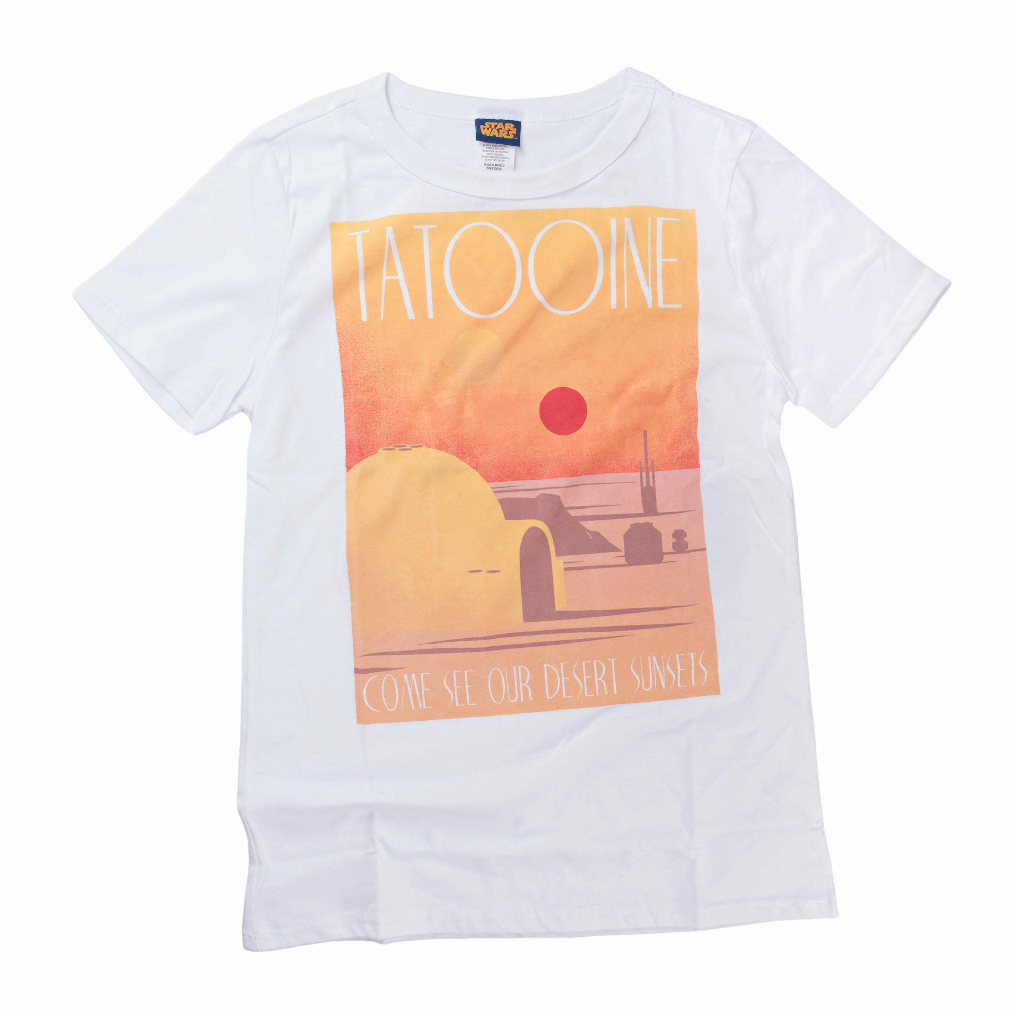 Star Wars Tatooine Desert Juniors White T-Shirt