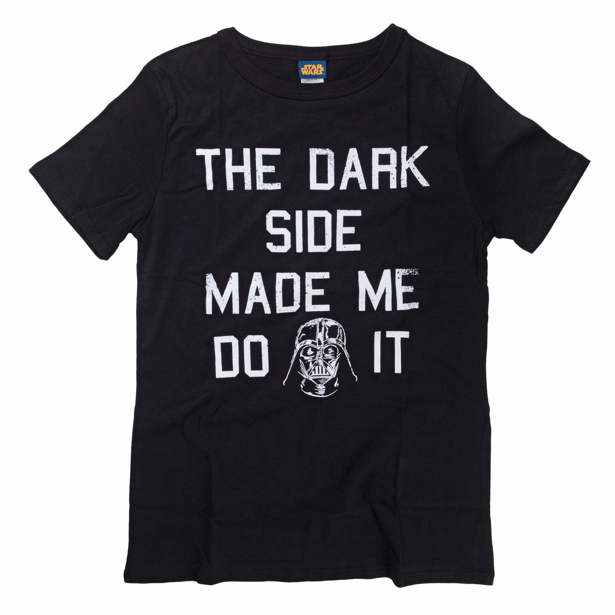 Star Wars The Dark Side Made Me Juniors Black T-Shirt