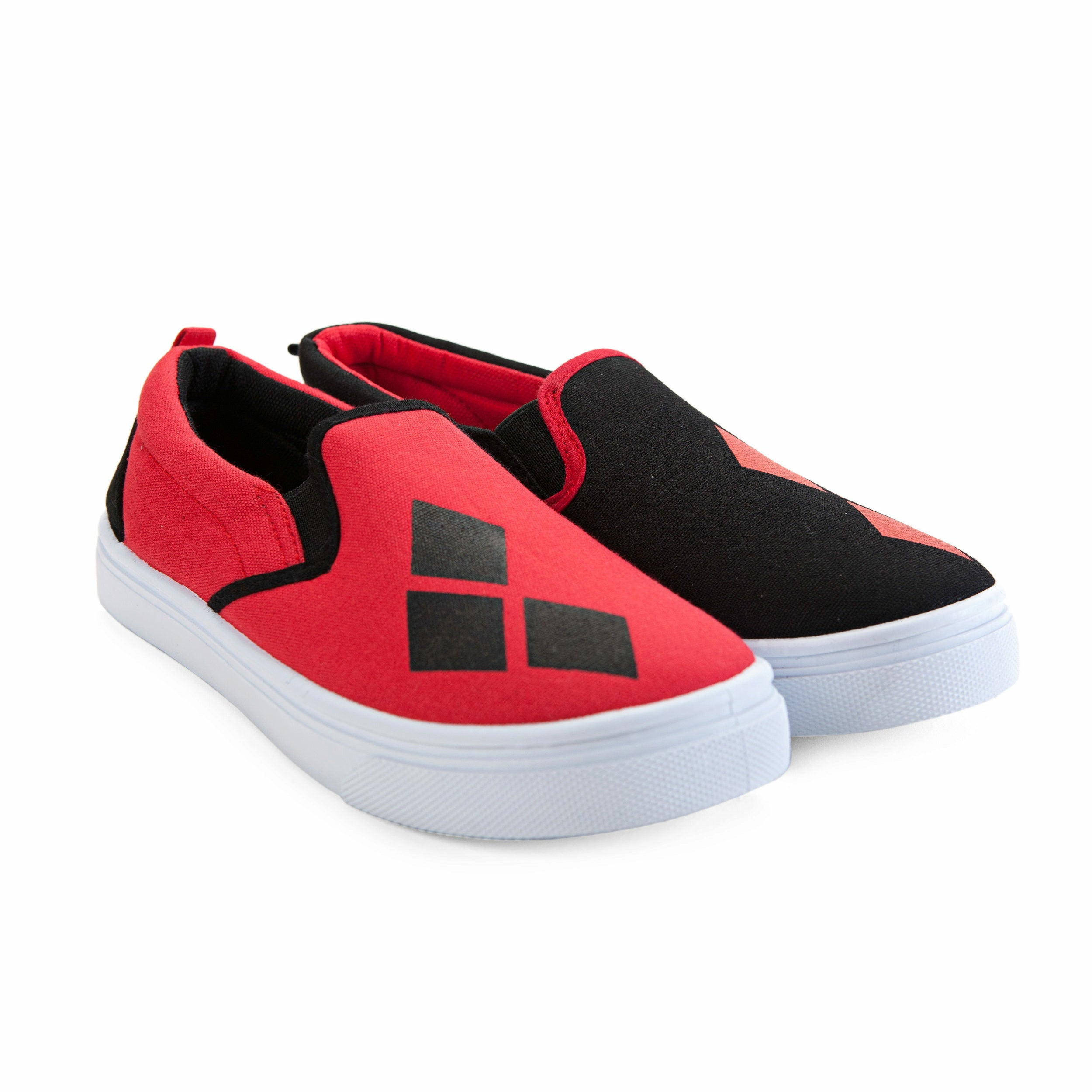 DC Comics Harley Quinn Slip On Shoes
