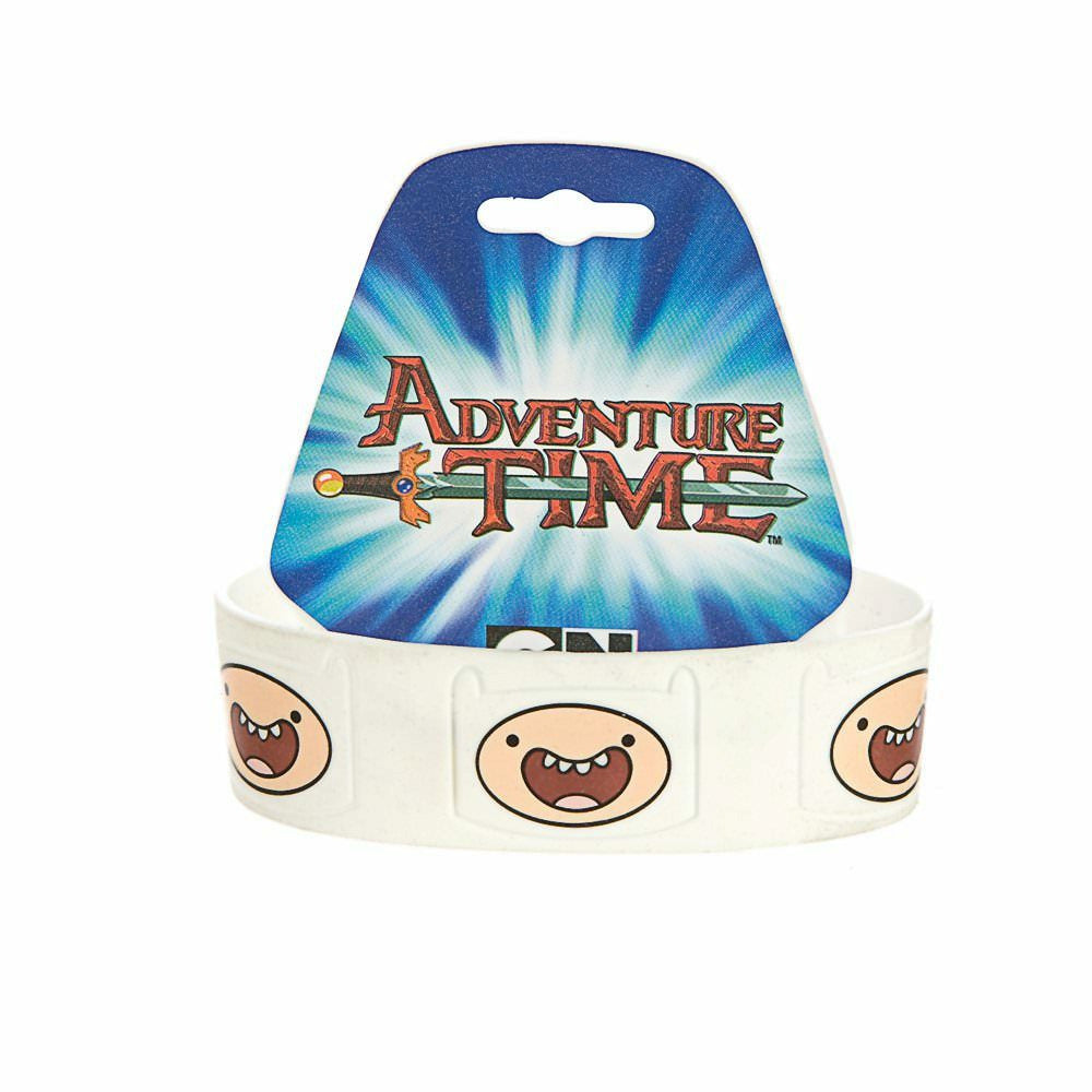 Adventure Time Finn White Wristband