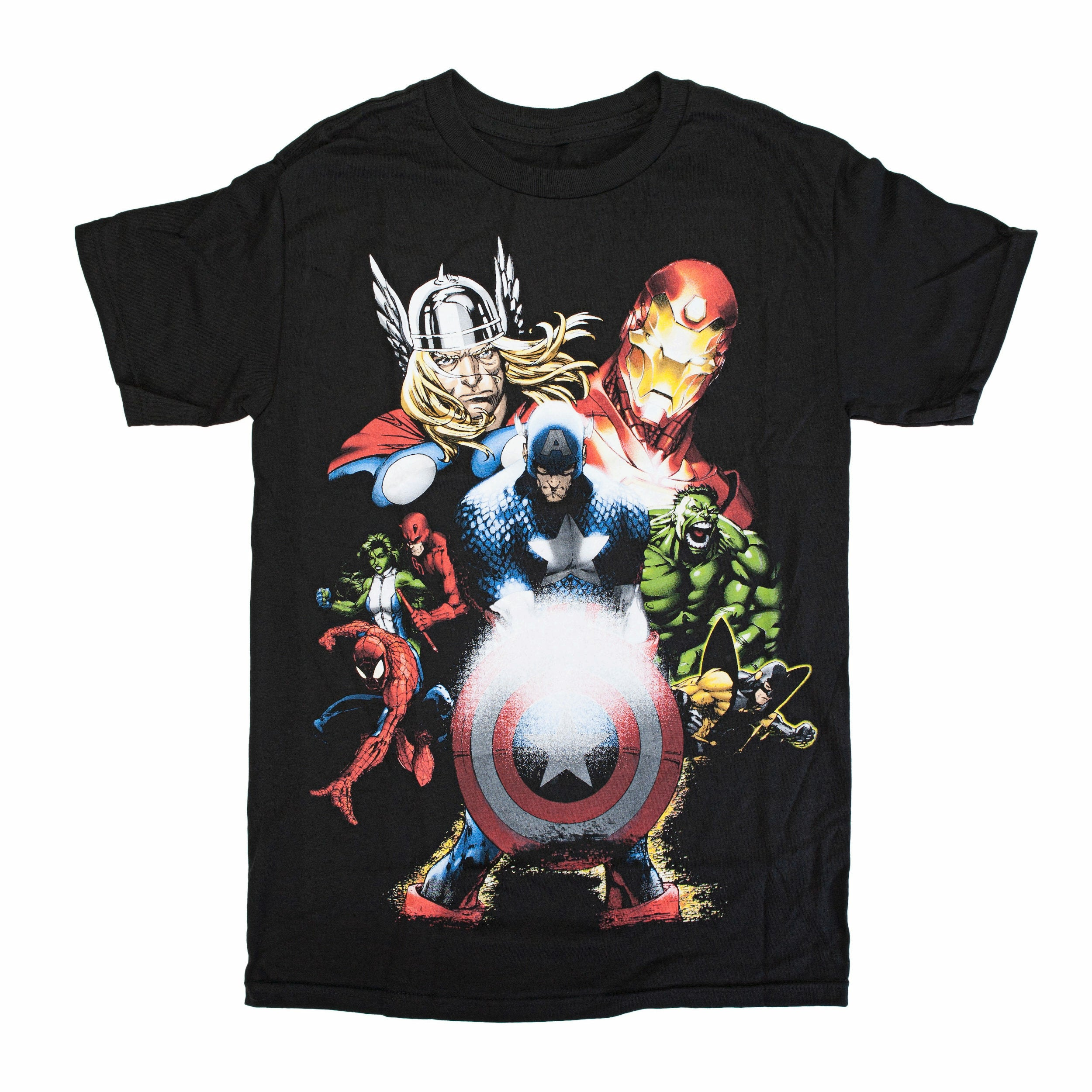 Marvel Team-Ups Soldiers Vengeance Black Mens T-Shirt
