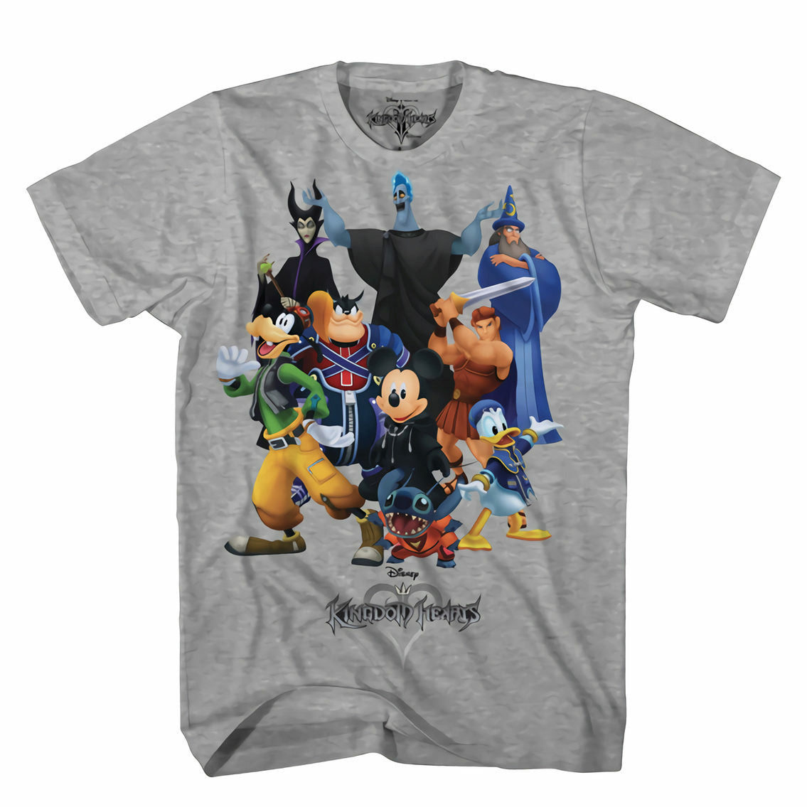 Kingdom Hearts King Mash Graphic Heather T-Shirt