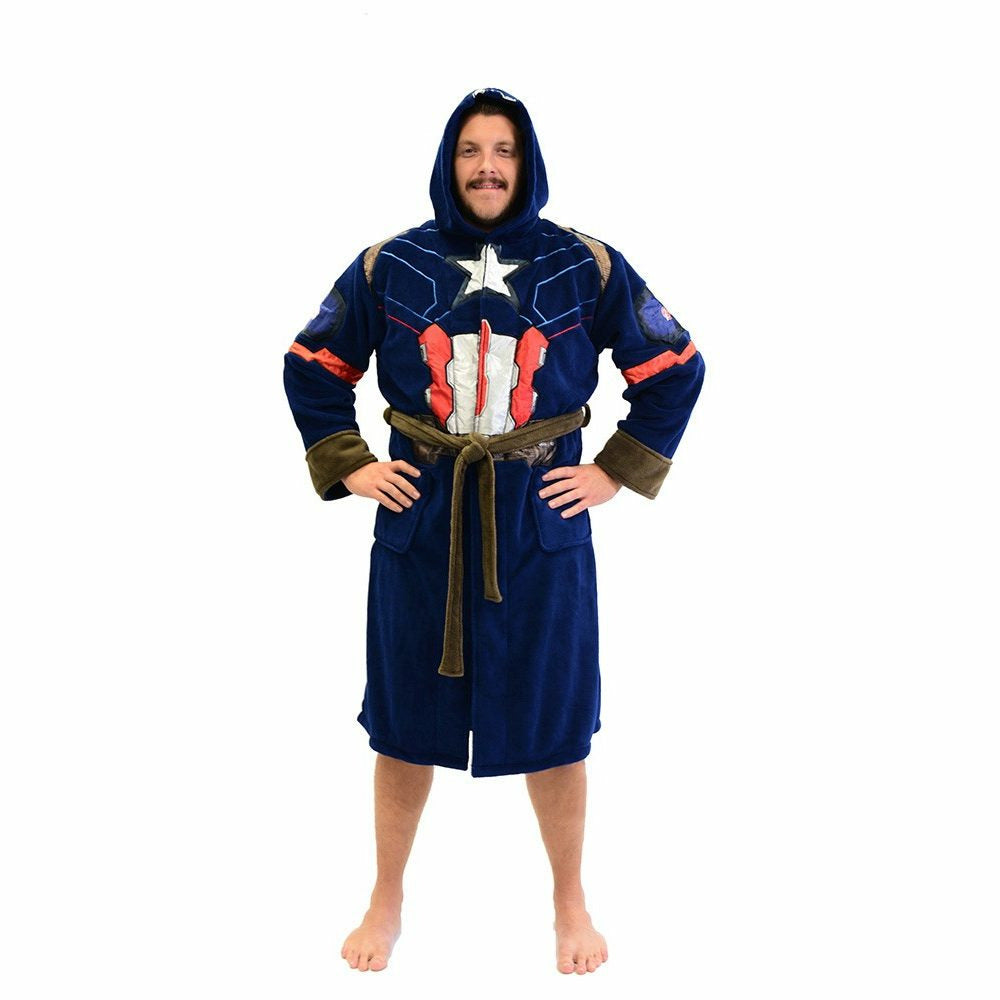 Marvel Captain America Civil War Captain America Costume Bathrobe
