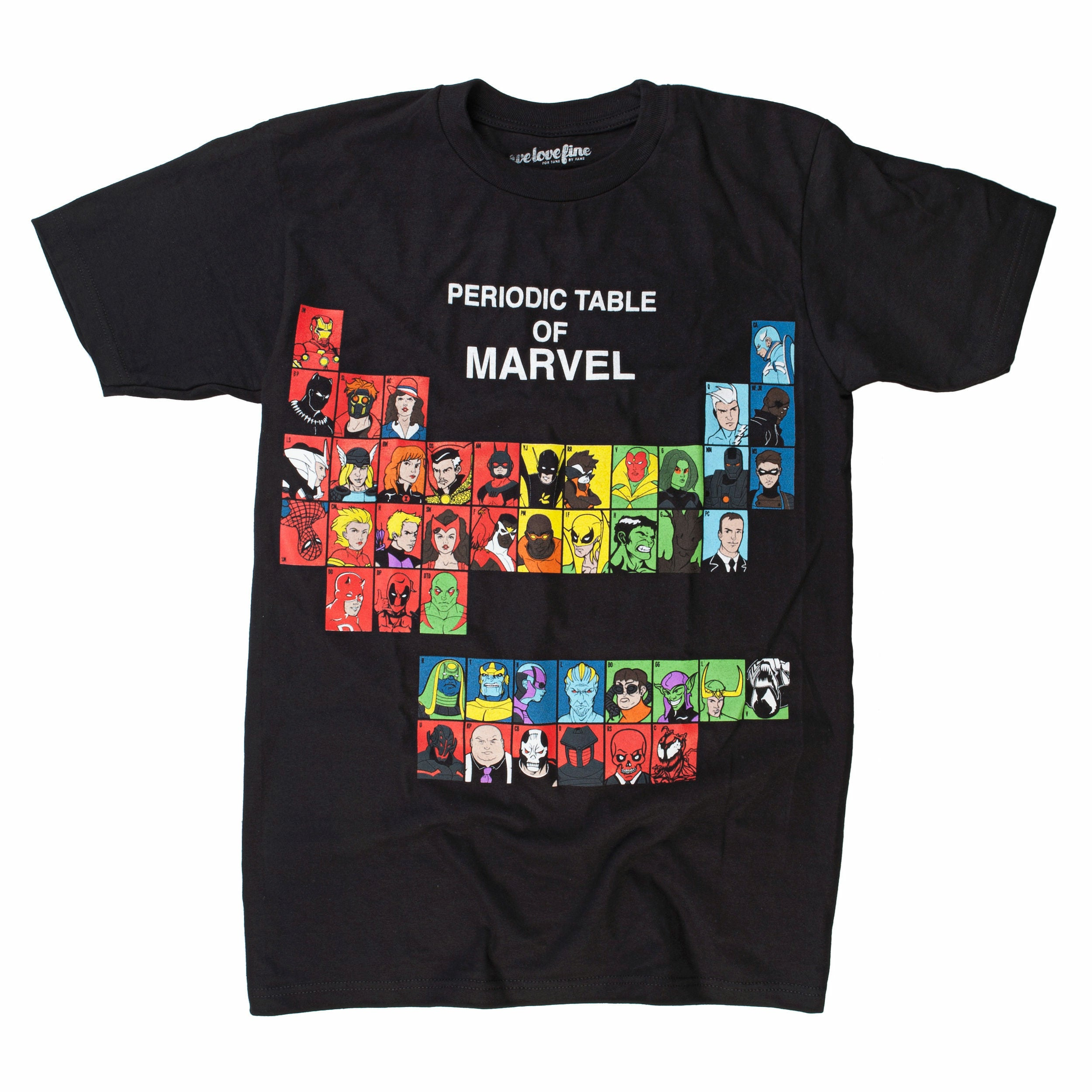 Marvel Periodic Table T-Shirt