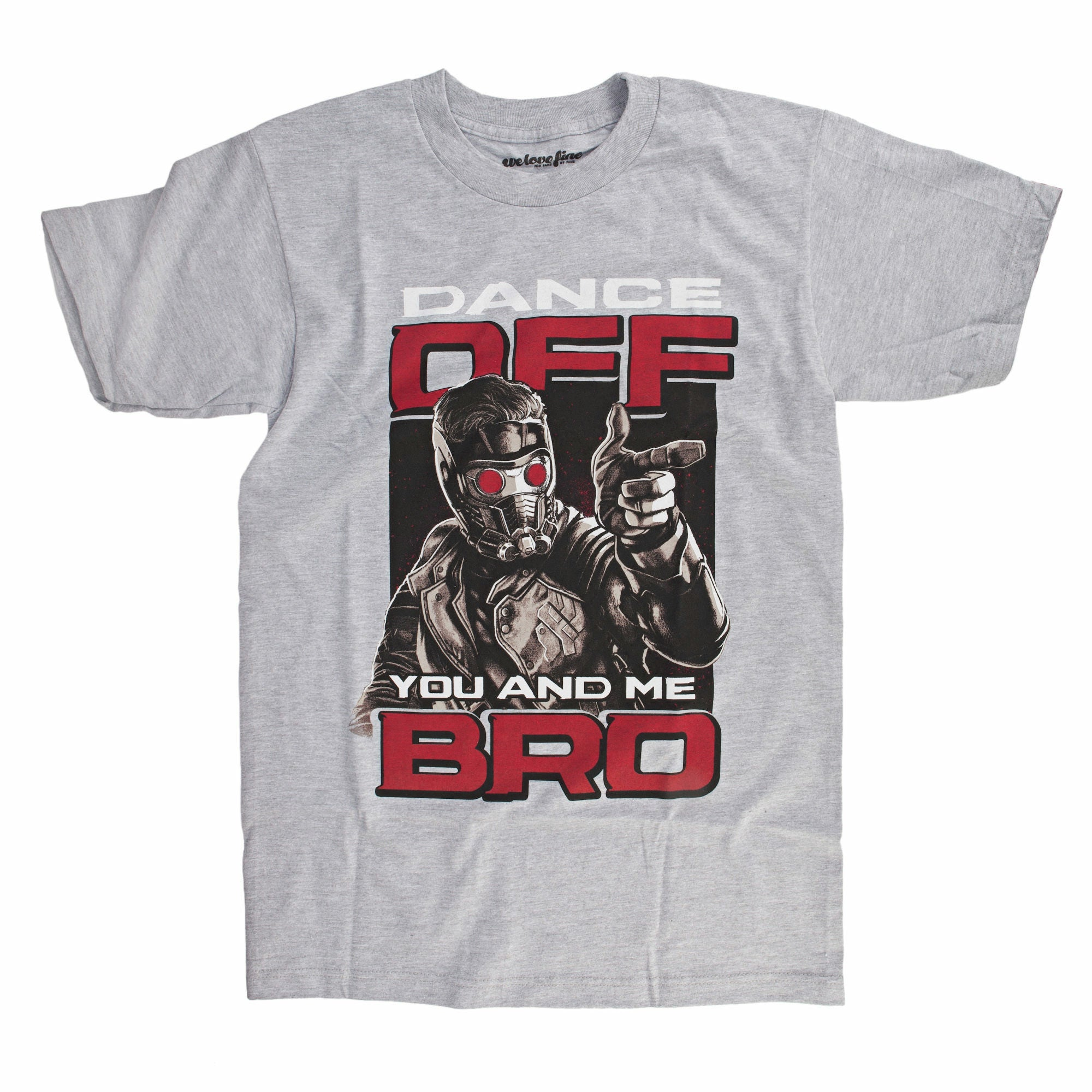 Guardians Of The Galaxy Star Lord Dance Off Mens Grey T-Shirt