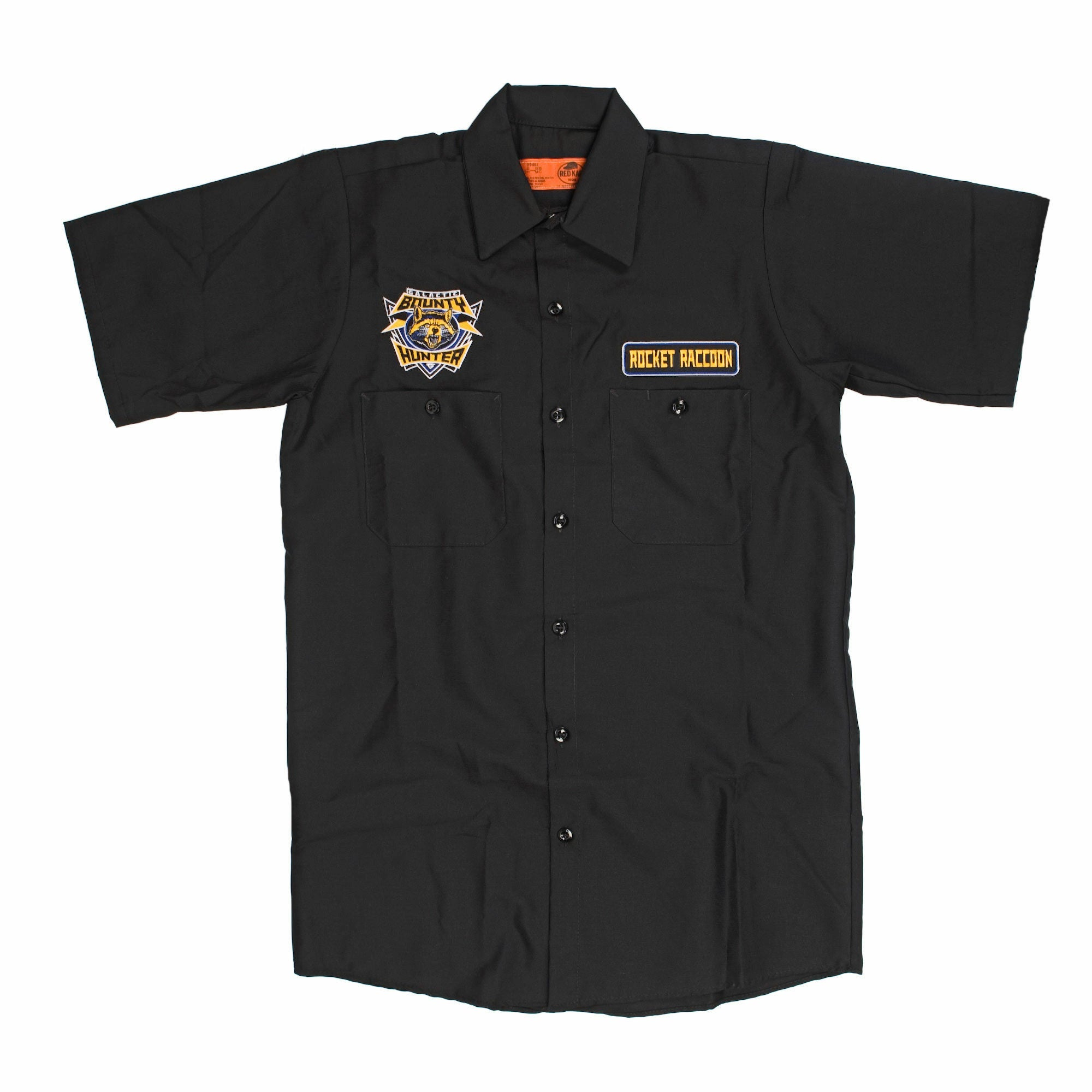 Marvel Guardians of The Galaxy Bounty Hunter Mens Black Work Shirt