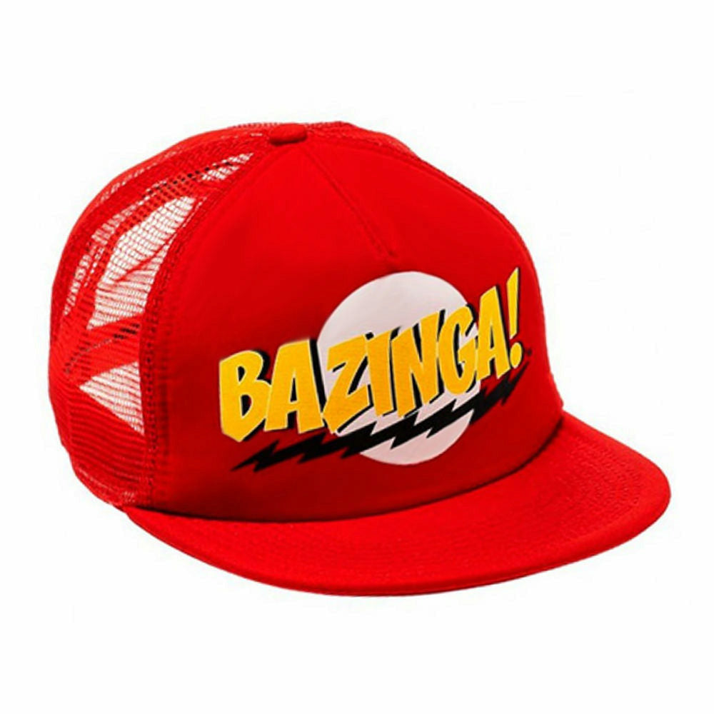 Big Bang Theory Bazinga Red Snapback Baseball Cap