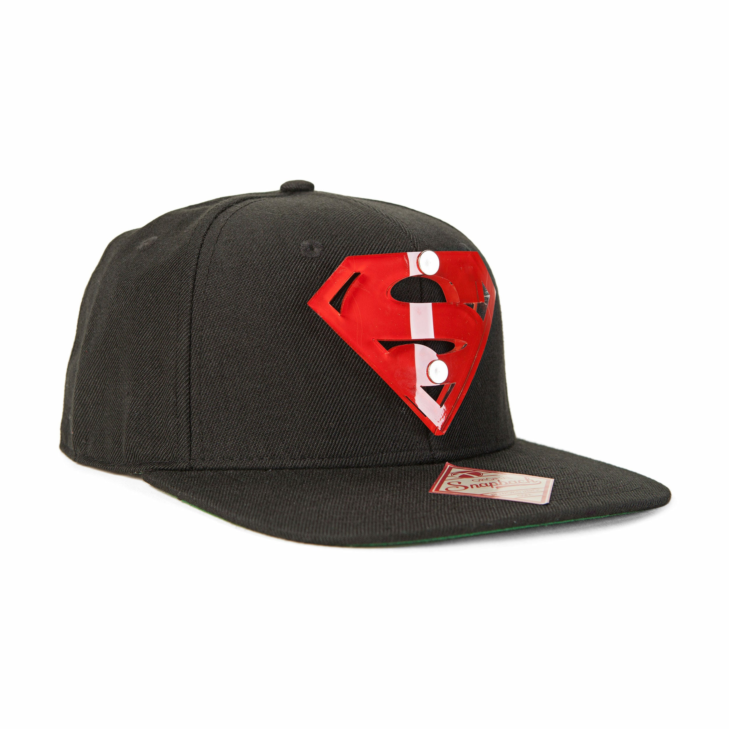 DC Comics Superman Man of Steel Acrylic Logo Snapback Baseball Cap