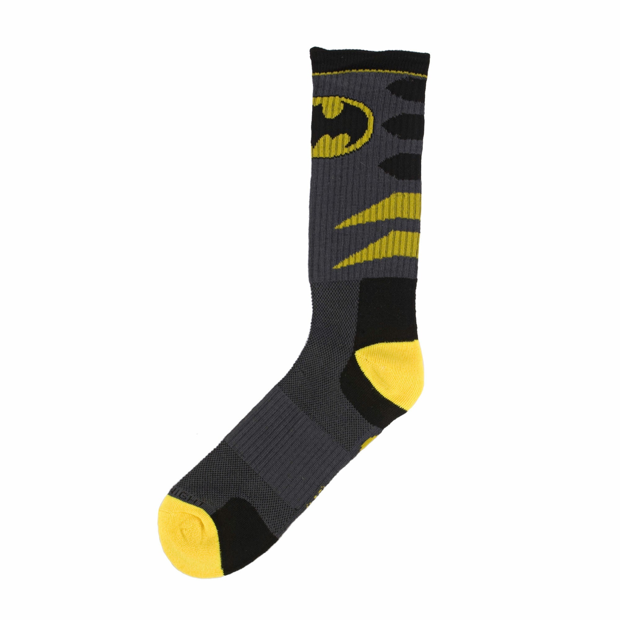 DC Comics Batman Logo Mens Grey Crew Socks