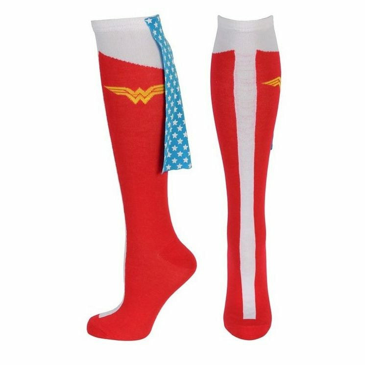 DC Comics Wonder Woman Caped Boot Knee High Socks