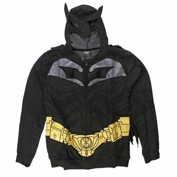 The Dark Knight Rises Batman Costume Fleece Zip Up Hoodie Sweatshirt