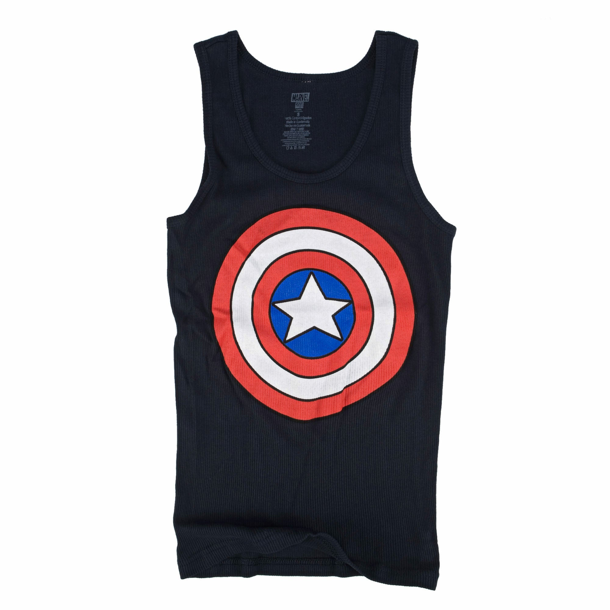 Marvel Captain America Shield Logo Juniors Navy Blue Tank Top Shirt