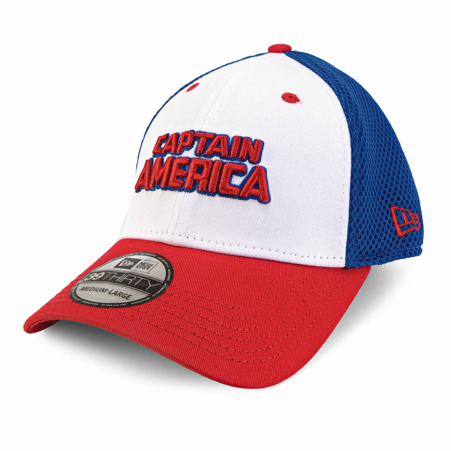 Marvel Captain America Wordmark Neo Fitted Baseball Cap
