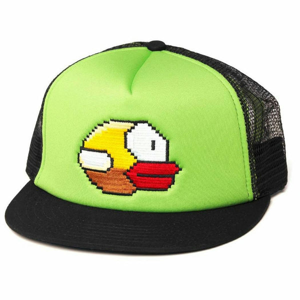 Flappy Bird Yellow Bird Snapback Trucker Hat