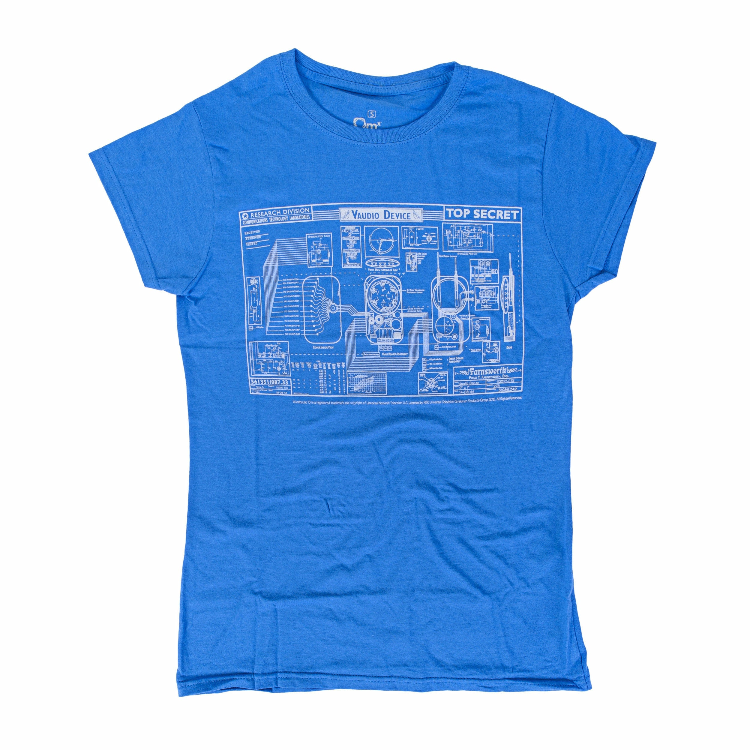 Warehouse 13 Farnsworth Blueprint Womens T-Shirt