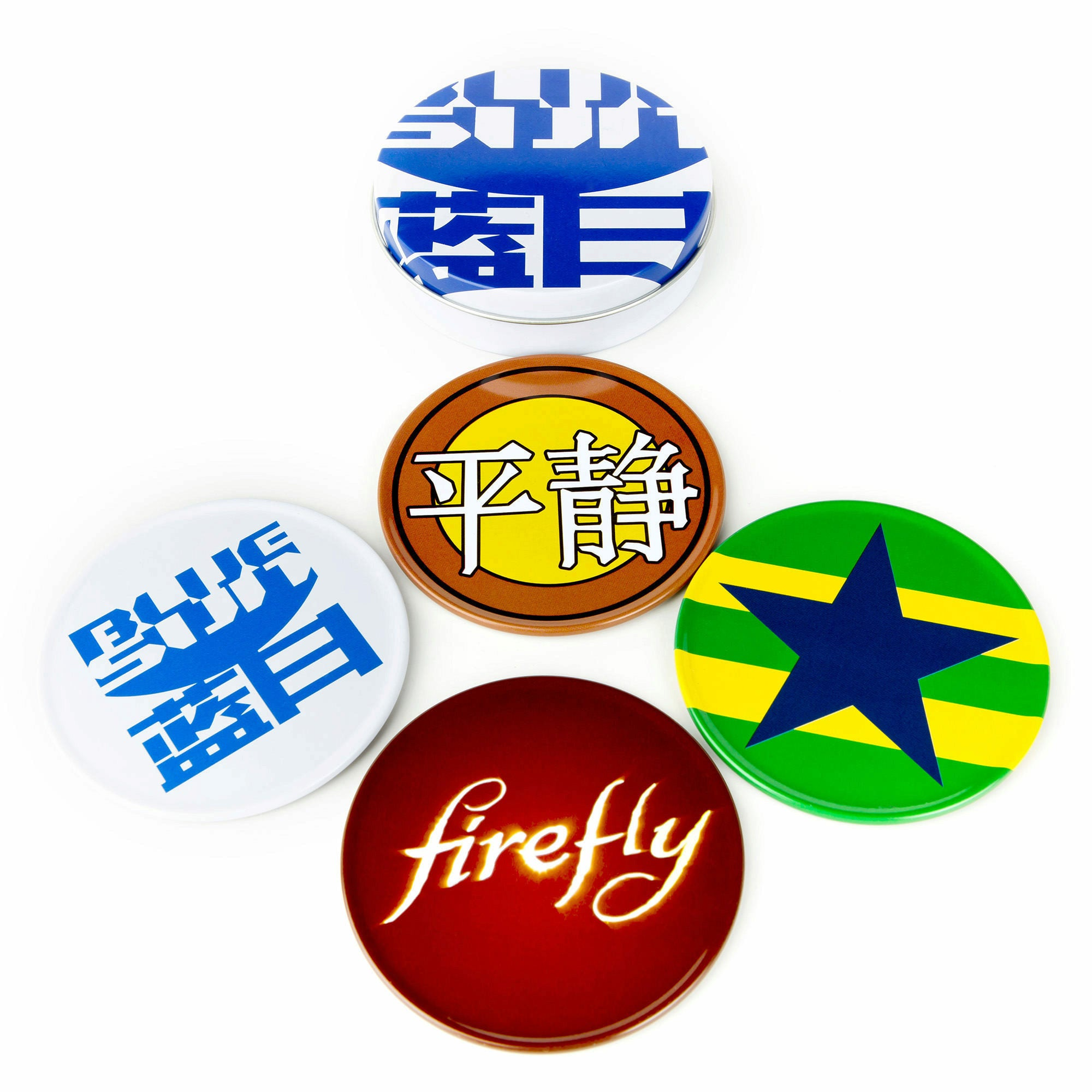 Firefly Coasters - Set of 4 with Tin
