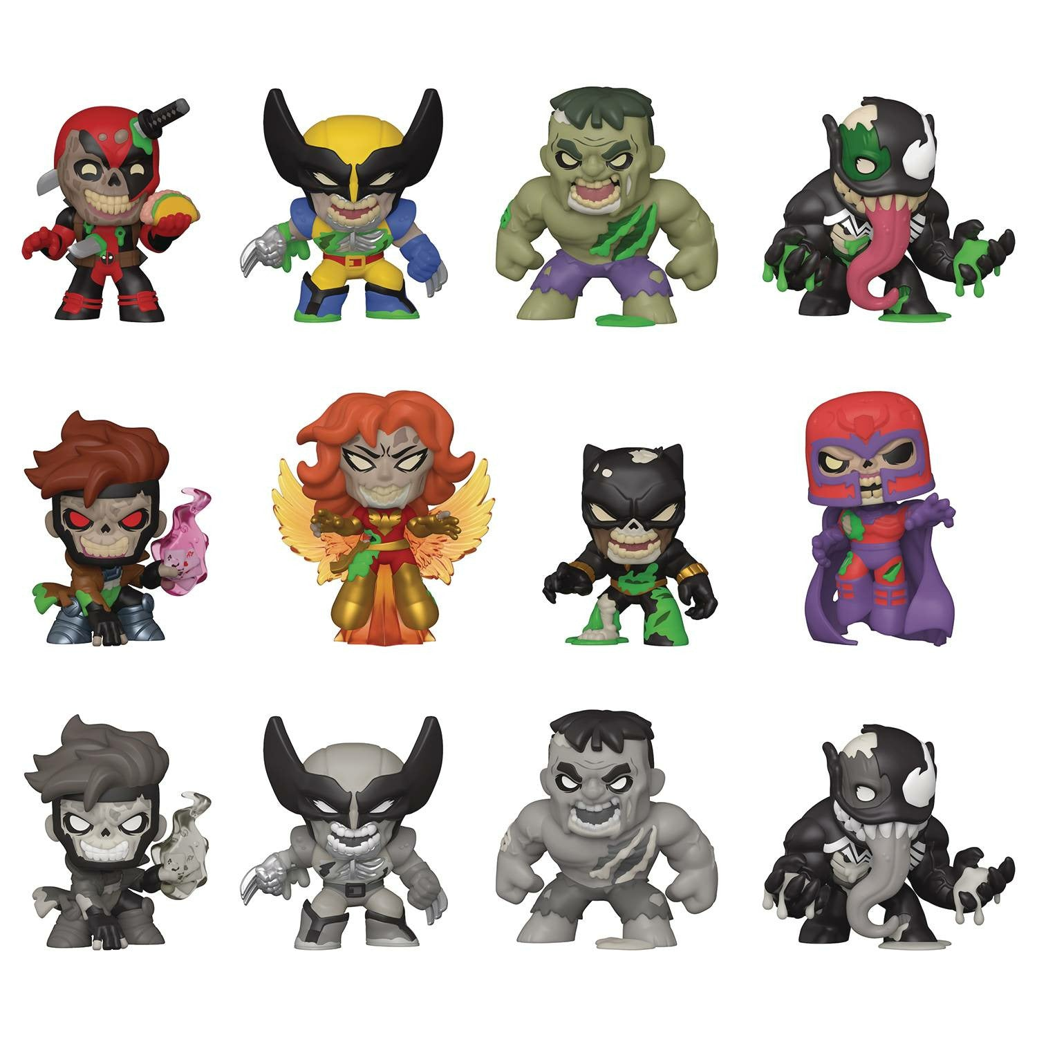 Mystery Minis Marvel Zombies 12pc Bmb Displayp