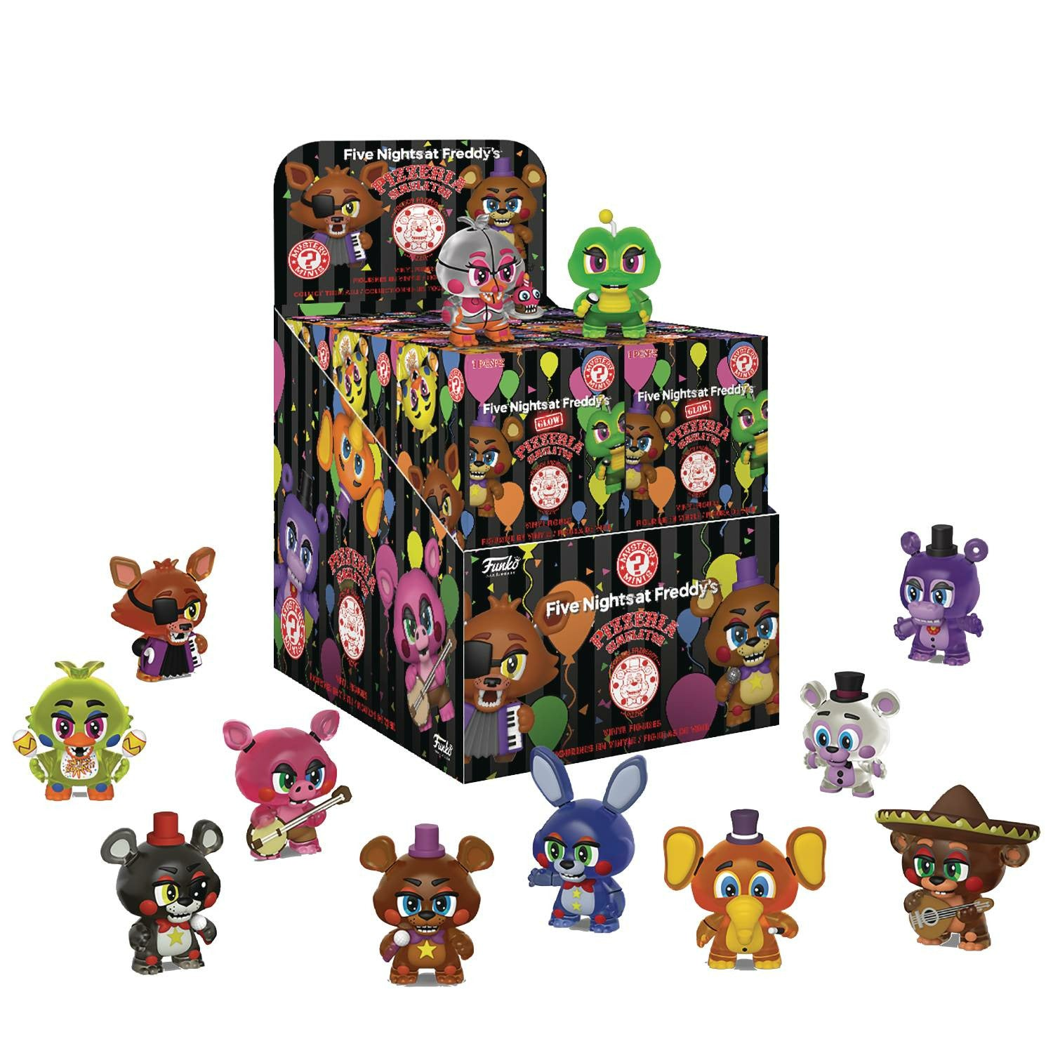 Mystery Minis Five Nights at Freddy's Pizza Simulator 12pc Bmb Displayp