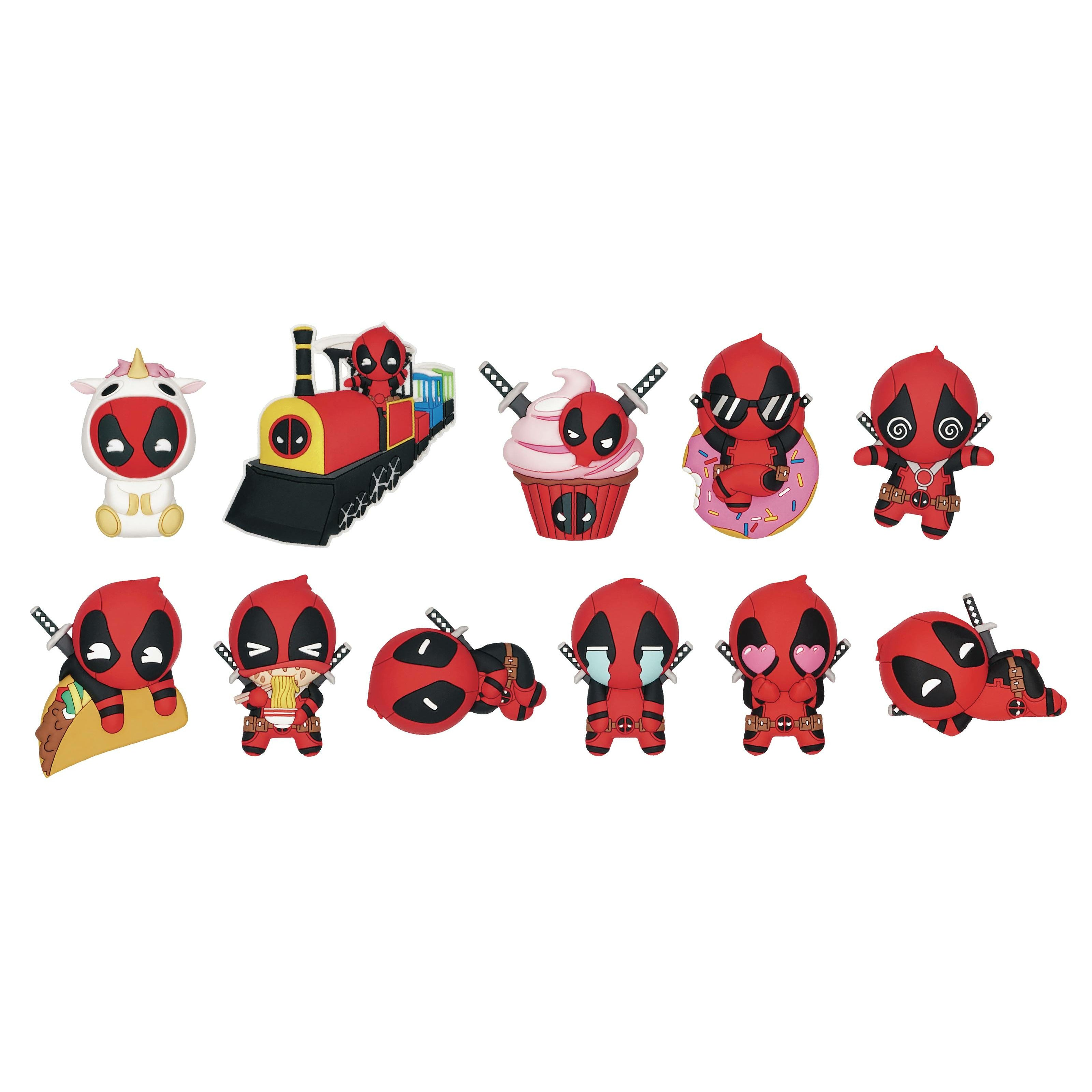 Deadpool Series4 3d Foam Bag Clip 24pcs Bmb Display
