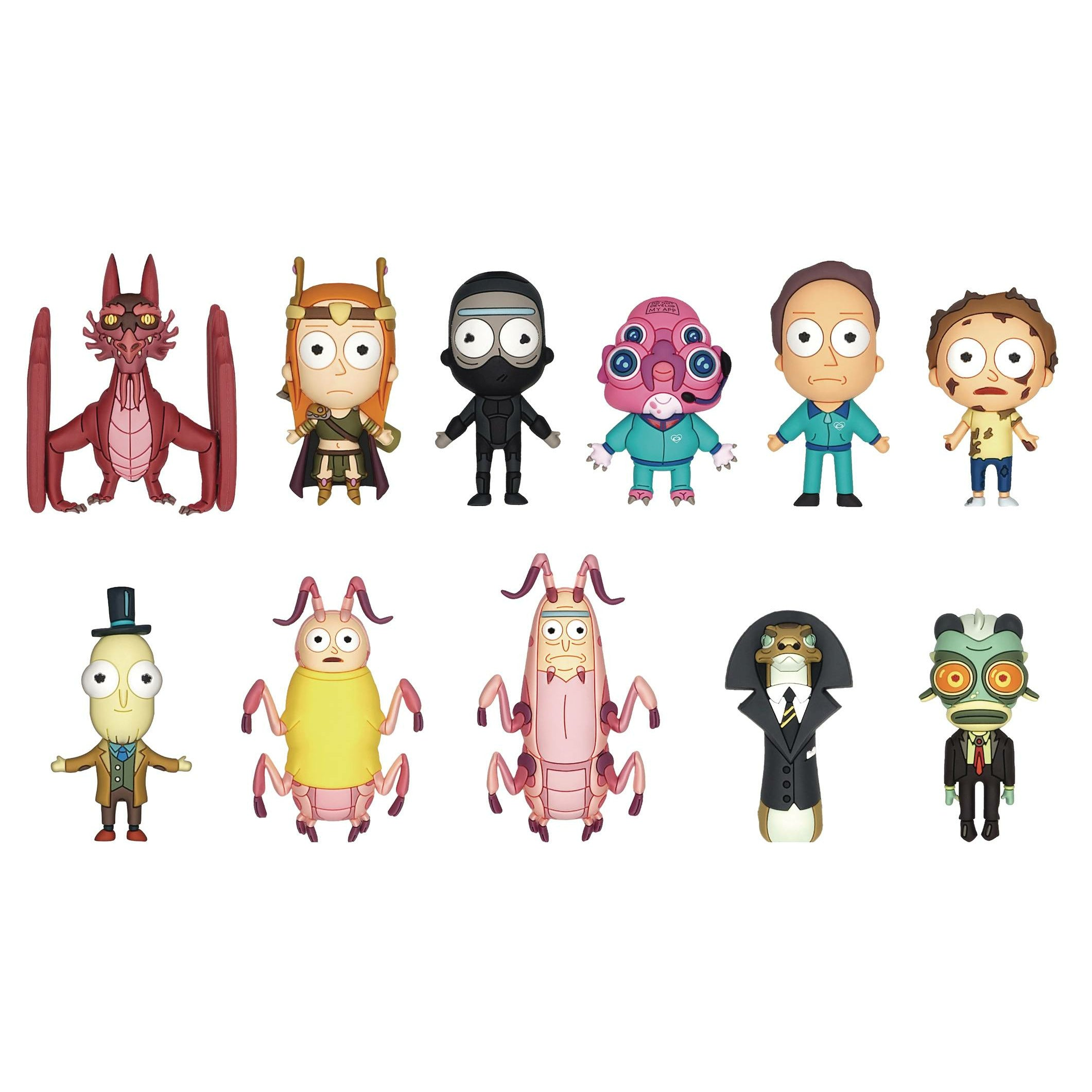 Rick And Morty Series4 3d Foam Bag Clip 24pcs Bmb Display