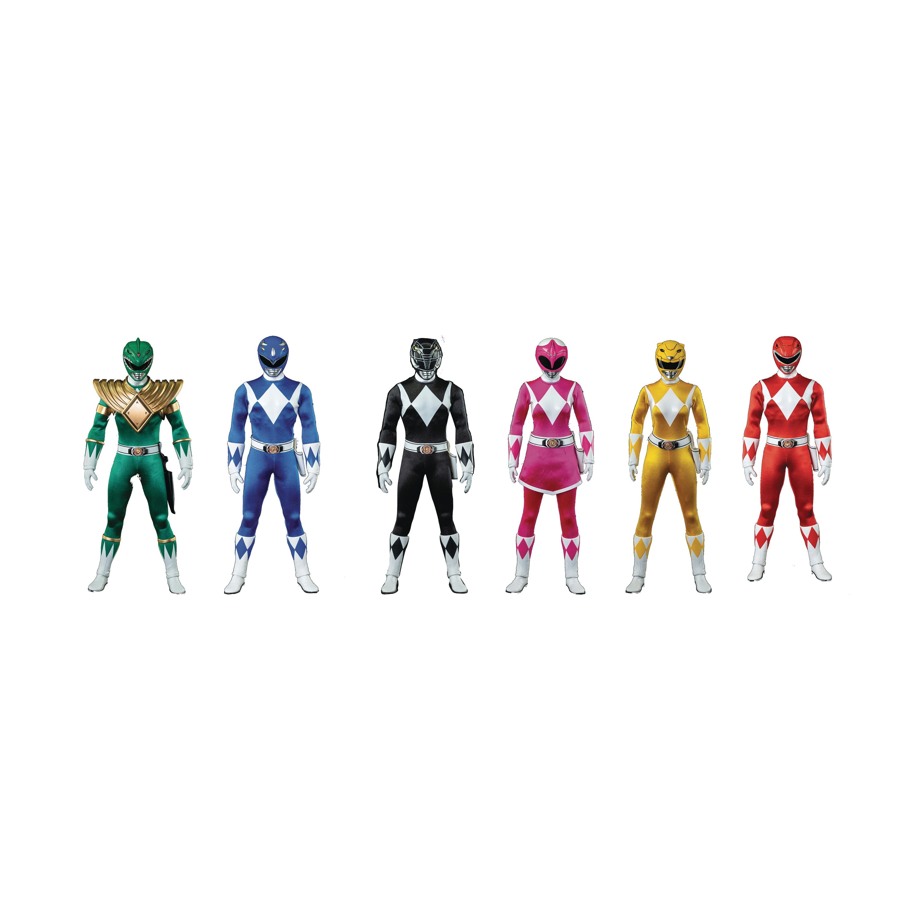 Mighty Morphin Power Rangers 1/6 Scale Action Figure 6pk Set