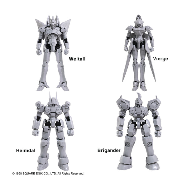 Xenogears Structure Arts 1/144 Model Kit Ser Vol 1 4pc Display