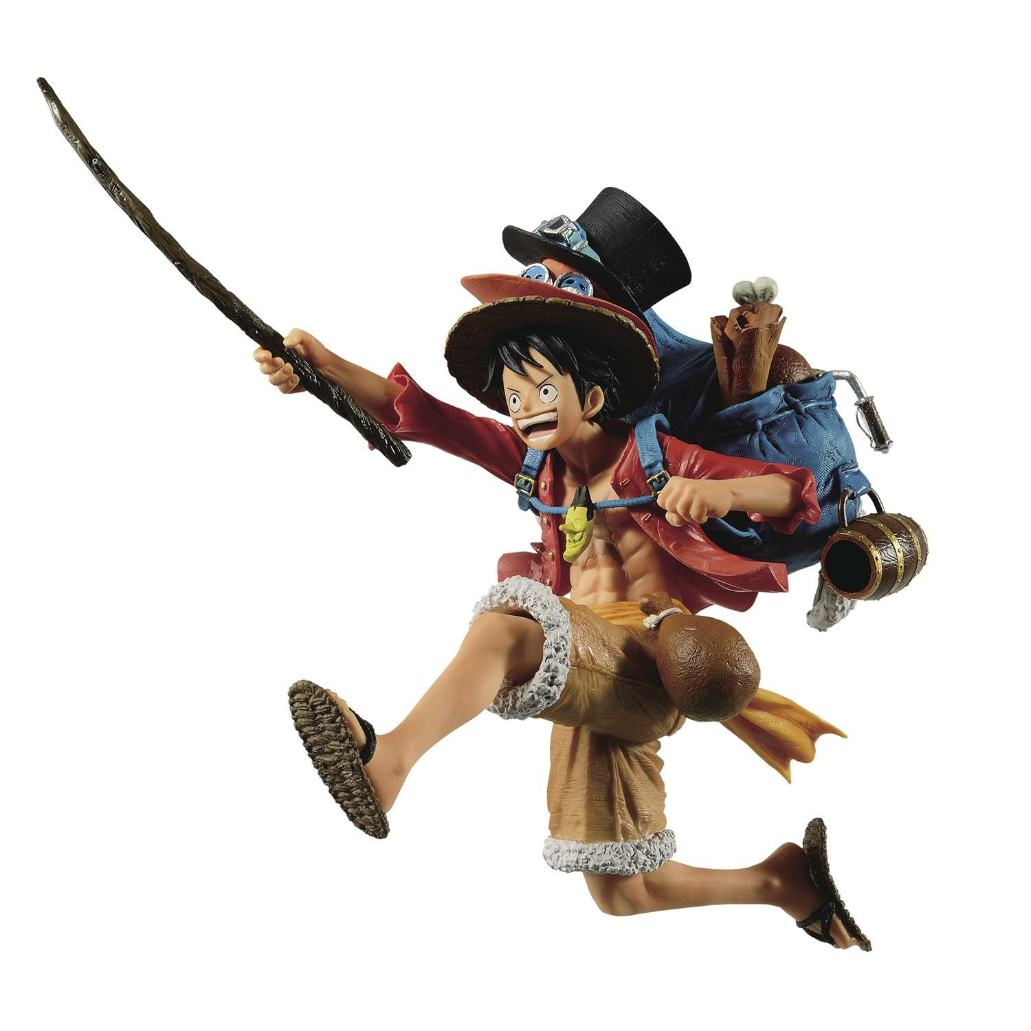 One Piece Three Brothers Monkey D Luffy Figure