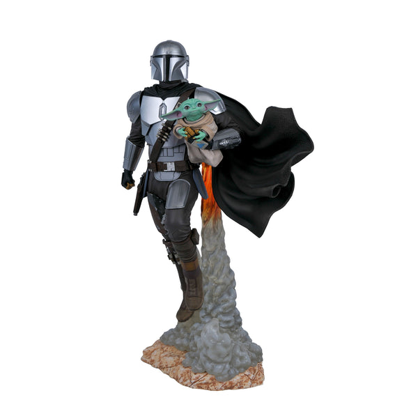 Star Wars Milestones Mandalorian & Child Statue