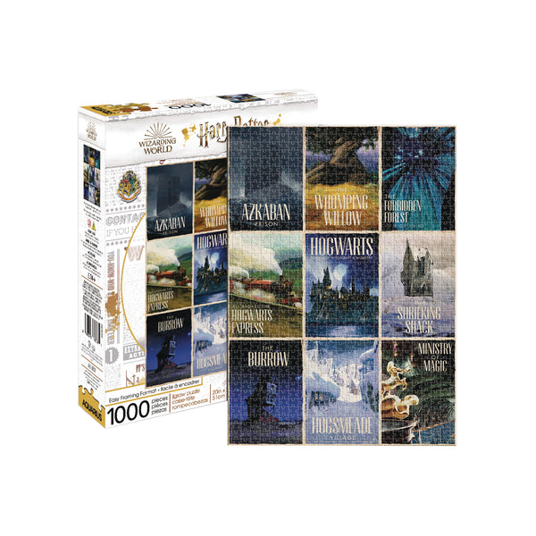 Aquarius Harry Potter Travel Posters 1000pc Puzzle