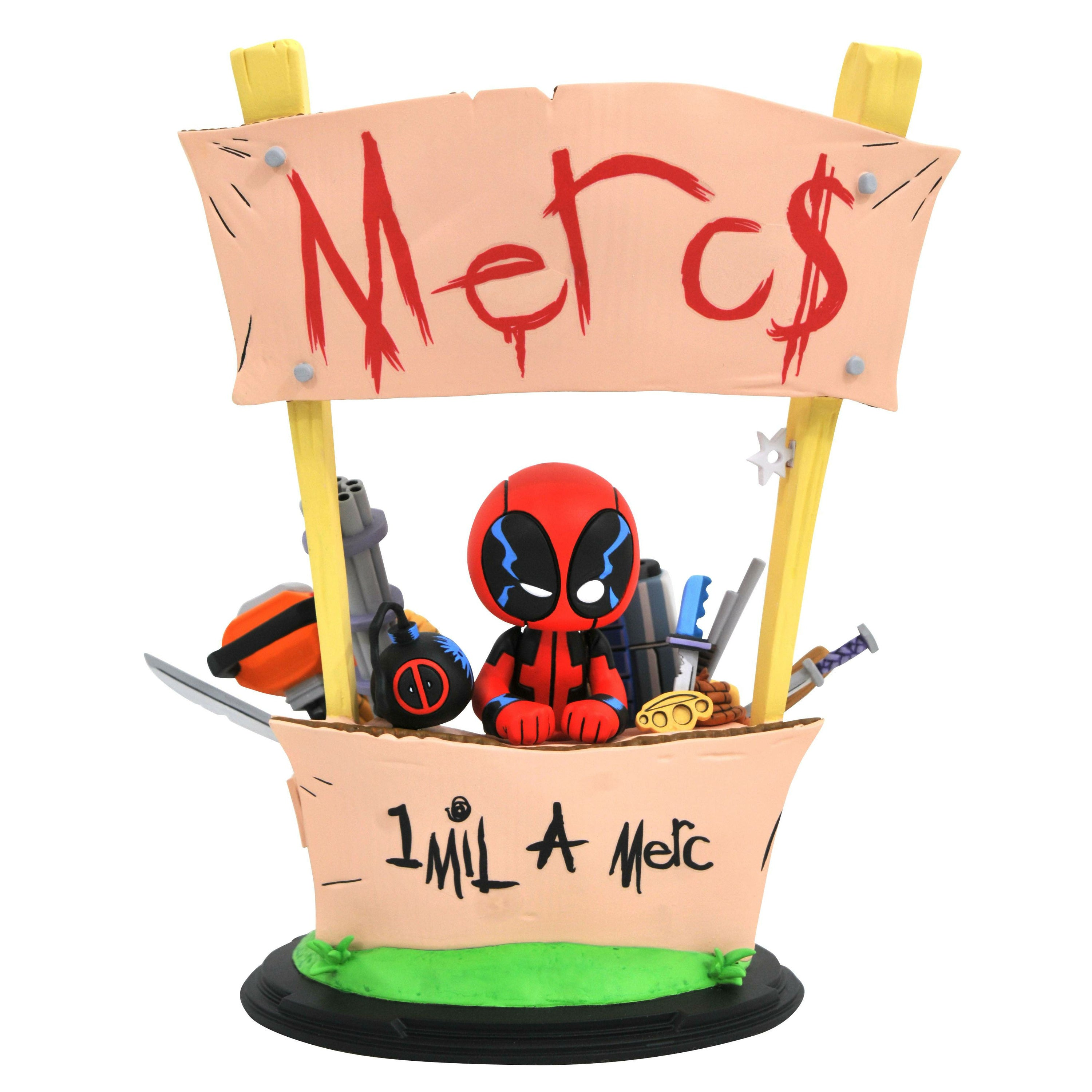 Marvel Animated Deadpool Merc For Hire Statue