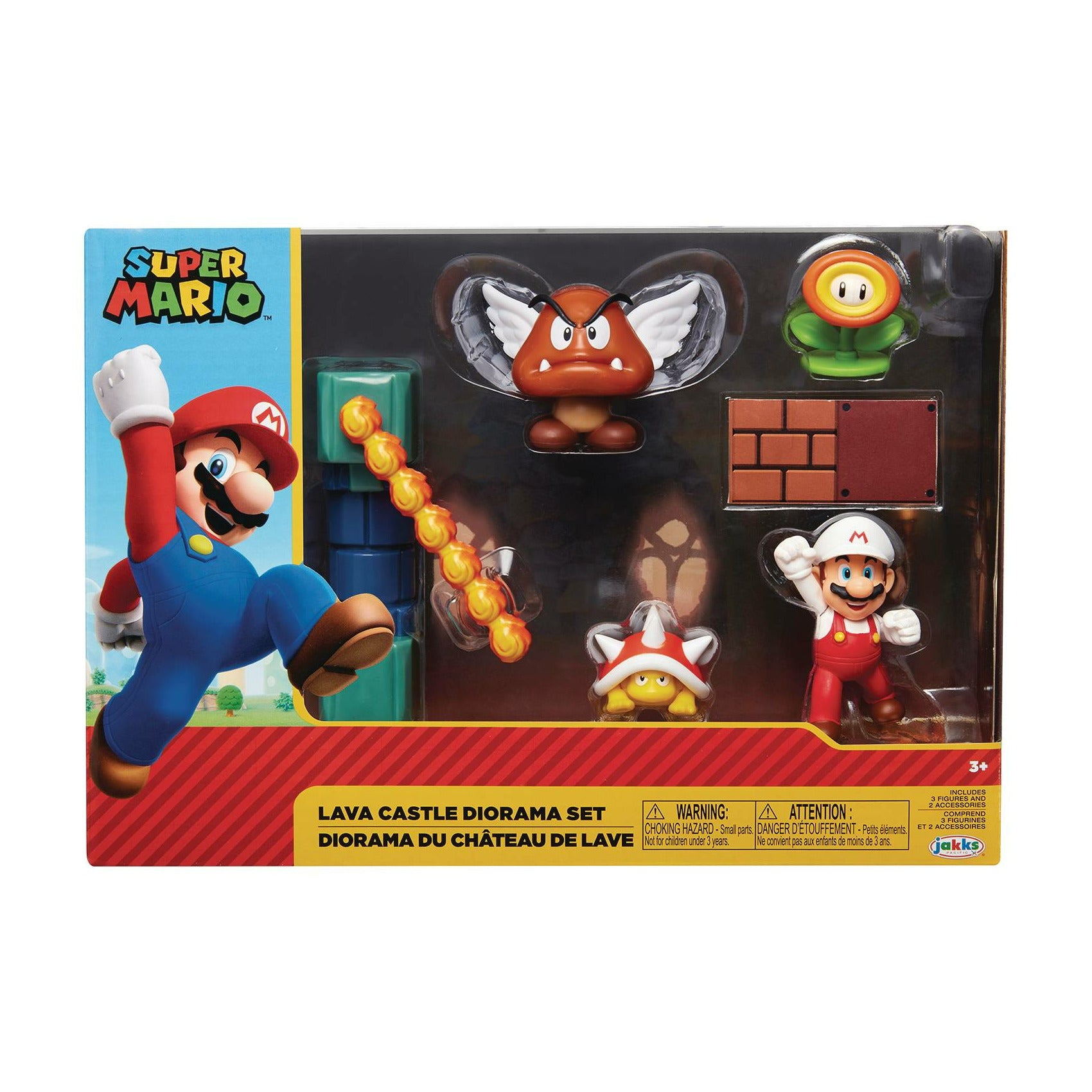 Nintendo 2-1/2in Lava Castle Diorama Set CS