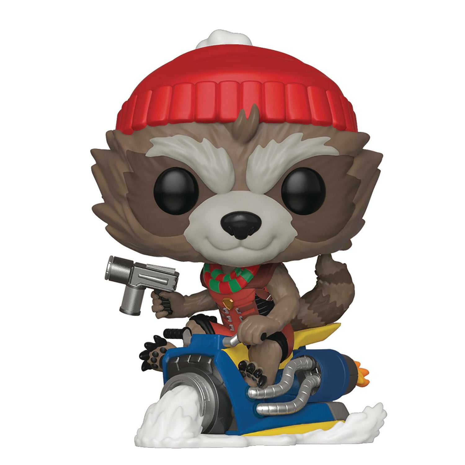 Marvel Rocket Raccoon on Sled Holiday Bobblehead Pop! Vinyl Figure